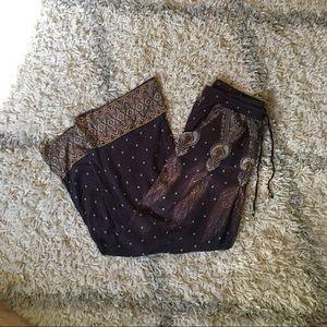 AEO drawstring rayon pocketed pants, Size S